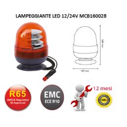 GIROFARO ARANCIO LED 12/24V...