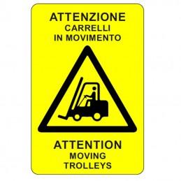 Segnale ATTENZIONE CARRELLI...