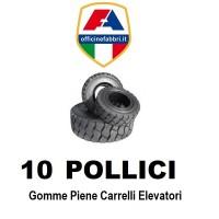 10 pollici - gomme piene carrello elevatore
