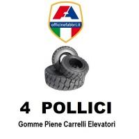 4 pollici - gomme piene carrello elevatore
