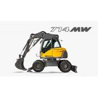 714 mw - escavatore gommato mecalac